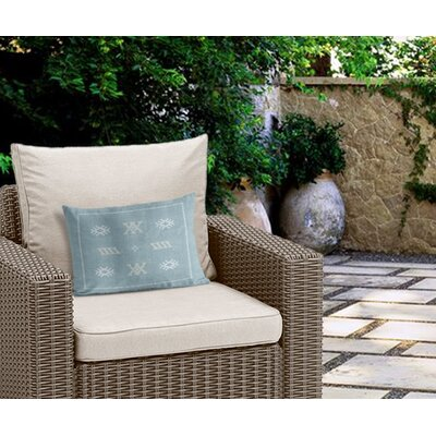 Touete Outdoor Lumbar Pillow Color: Aqua/ Blue
