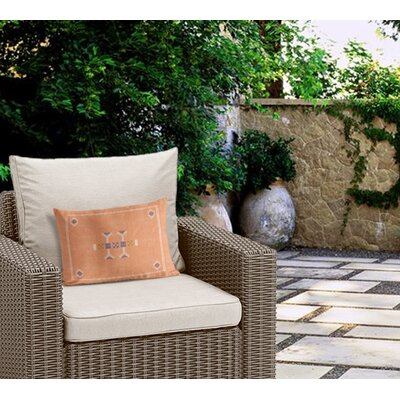 Zoe Outdoor Lumbar Pillow Color: Orange