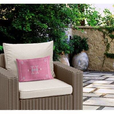 Zoe Outdoor Lumbar Pillow Color: Pink