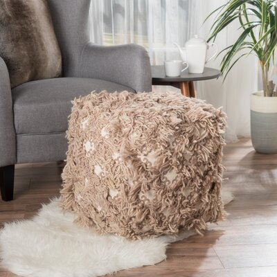 Kitty Pouf Upholstery: Taupe