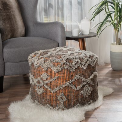 Grafton Pouf Upholstery: Orange