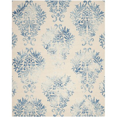 Jawhar Beige/Blue Area Rug Rug Size: Rectangle 8 x 10