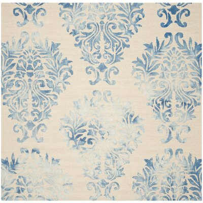 Jawhar Beige/Blue Area Rug Rug Size: Square 7