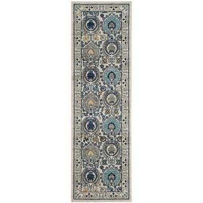 Aegean Ivory/Gray Area Rug Rug Size: Runner 22 x 7