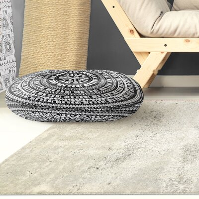 Kangana Double Sided Print Floor Pillow Color: Black, Size: 23 H x 23 W