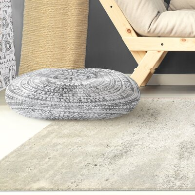 Kangana Double Sided Print Floor Pillow Color: Grey, Size: 23 H x 23 W