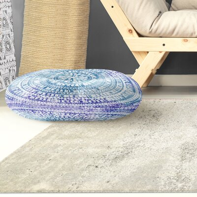 Kangana Double Sided Print Floor Pillow Color: Blue, Size: 23 H x 23 W