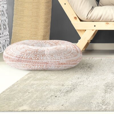 Kangana Double Sided Print Floor Pillow Color: Rose, Size: 23 H x 23 W