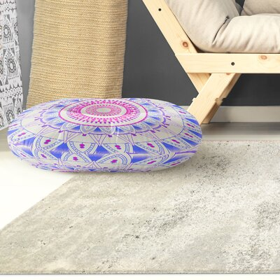 Kangana Round Indoor/Outdoor Floor Pillow Color: Blue/ Pink, Size: 26 H x 26 W