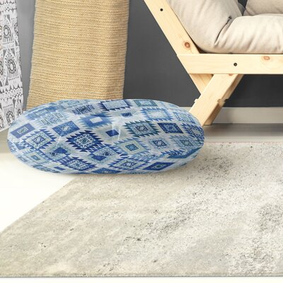 Loraine Circle Floor Pillow Color: Blue, Size: 8 H x 26 W x 26 D