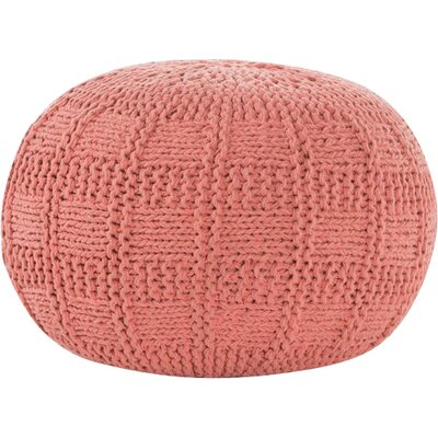 Loma Fabric Pouf Ottoman Upholstery: Coral