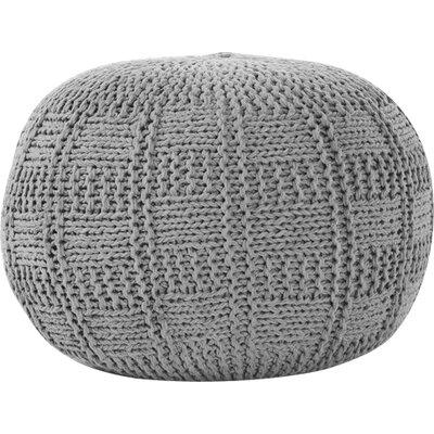 Loma Fabric Pouf Ottoman Upholstery: Gray