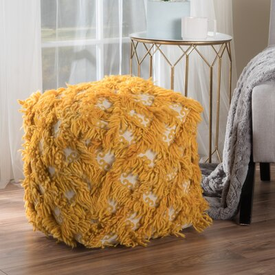 Kitty Pouf Upholstery: Gold