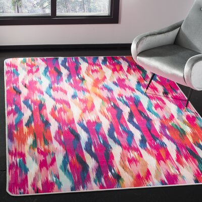 Janiyah Pink Area Rug Rug Size: Rectangle 51 x 76