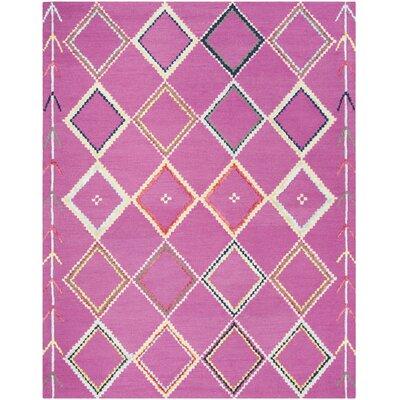 Carolwood Hand Tufted Wool Fuchsia Area Rug Rug Size: Rectangle 6 x 9