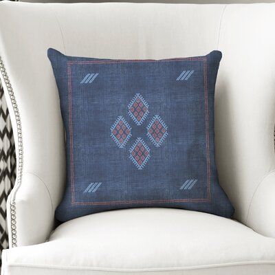 Stellan Kilim Throw Pillow Color: Navy/ Red/ Blue, Size: 24 x 24