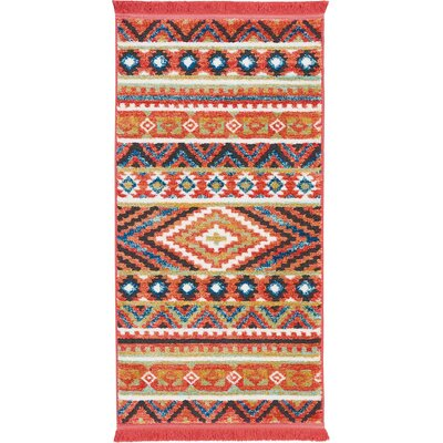 Carice Orange Area Rug Rug Size: Rectangle 22 x 43