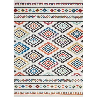 Carice Red/Blue Area Rug Rug Size: Rectangle 7'10