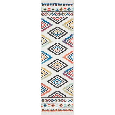 Carice Red/Blue Area Rug Rug Size: Rectangle 22 x 79