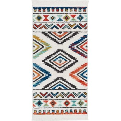 Carice Red/Blue Area Rug Rug Size: Rectangle 22 x 43