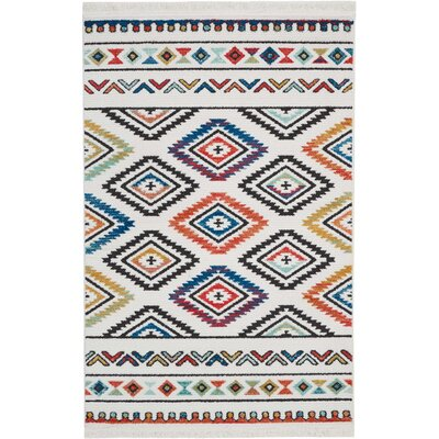 Carice Red/Blue Area Rug Rug Size: Rectangle 311 x 62