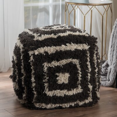 Amie Pouf Ottoman Upholstery: Charcoal