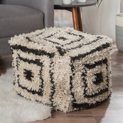 Amie Pouf Upholstery: Ivory