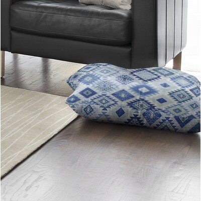 Loraine Square Floor Pillow Color: Blue, Size: 8 H x 23 W x 23 D