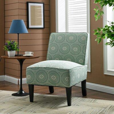 Burling Slipper Chair Upholstery: Medallion Mint
