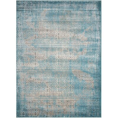 Saliba Blue Area Rug Rug Size: Rectangle 53 x 74
