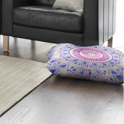 Kangana Square Floor Pillow Color: Blue/ Pink, Size: 23 H x 23 W