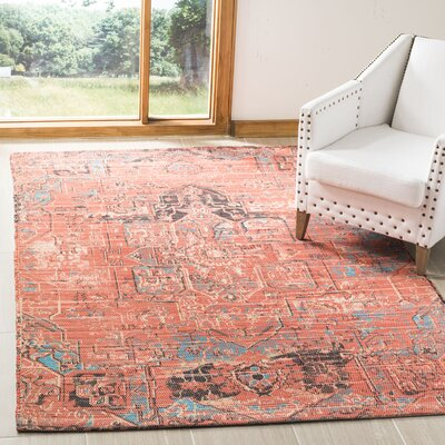 Cheng Hand Woven Rust/Blue Area Rug Rug Size: Rectangle 3 x 5