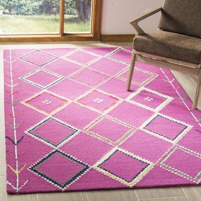 Carolwood Hand Tufted Wool Fuchsia Area Rug Rug Size: Rectangle 5 x 8