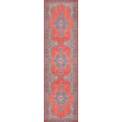 Varian Red Area Rug Rug Size: Runner 23 x 76