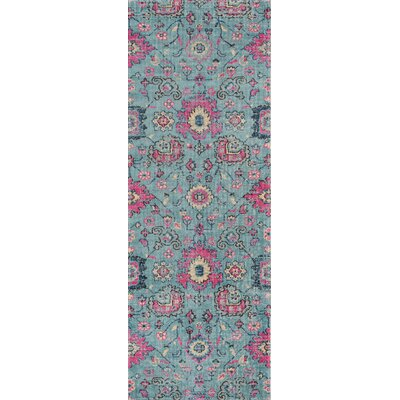 Thadine Blue Area Rug Rug Size: Runner 27 x 76