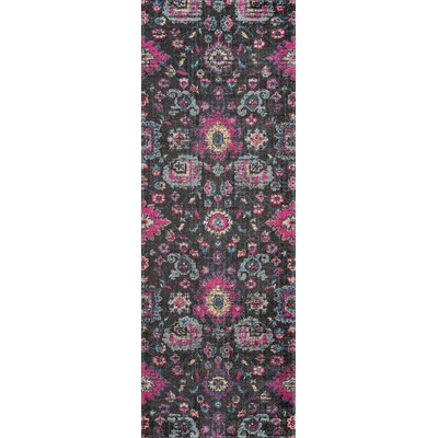 Thadine Charcoal Area Rug Rug Size: Runner 27 x 76
