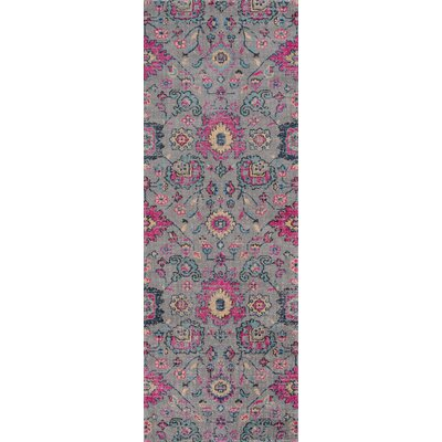 Thadine Gray Area Rug Rug Size: Runner 27 x 76