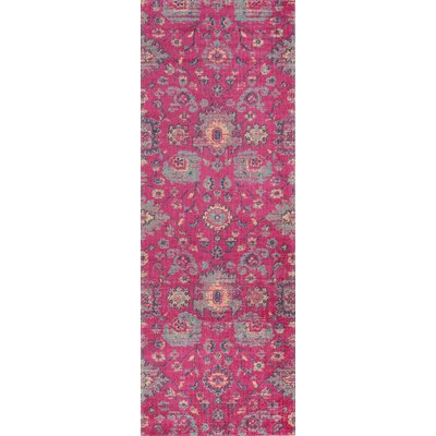 Thadine Pink Area Rug Rug Size: Runner 27 x 76