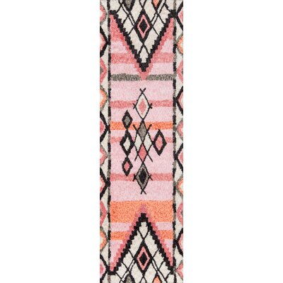 Valora Hand-Tufted Pink Area Rug Rug Size: Runner 23 x 8