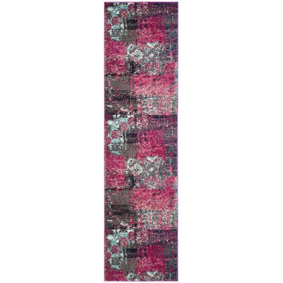 Chana Pink Area Rug Rug Size: Runner 22 x 8