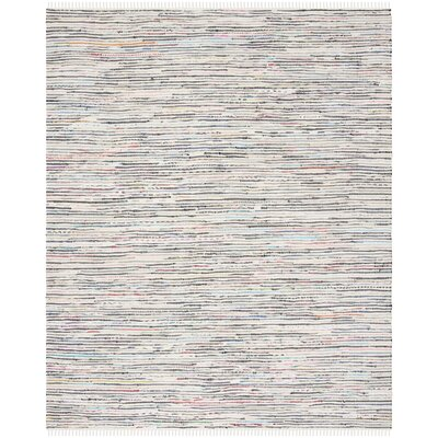 Conner Hand-Woven Cotton Gray/Pink Area Rug Rug Size: Rectangle 8 x 10