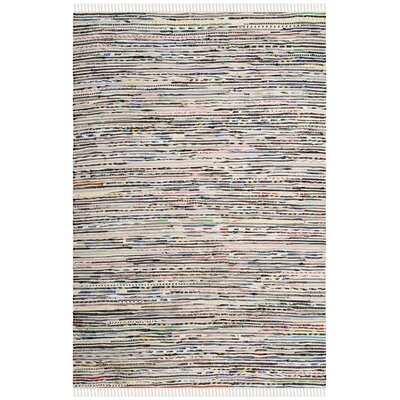 Conner Hand-Woven Cotton Gray/Pink Area Rug Rug Size: Rectangle 3 x 5