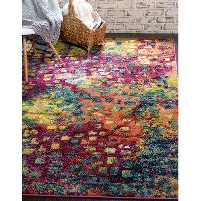 Massaoud Multicolor Area Rug Rug Size: Rectangle 5 x 8