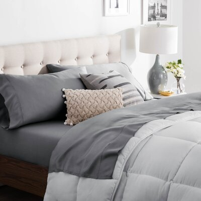 Niki Tencel Satin Sheet Set Size: King, Color: Slate