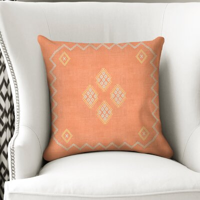 Stellan Accent Throw Pillow Color: Orange, Size: 24 x 24