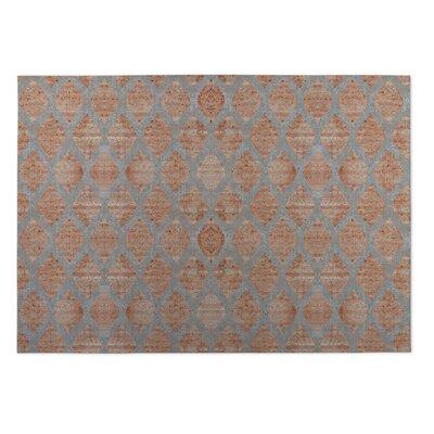 Elna Indoor/Outdoor Doormat Color: Grey/ Orange