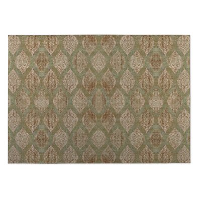 Elna Brown/Green Indoor/Outdoor Doormat Mat Size: Square 8