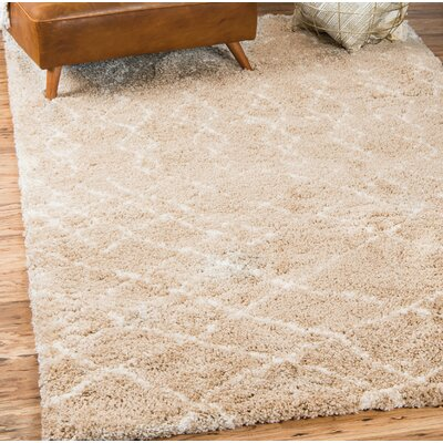 Bourne Machine woven Taupe Area Rug Rug Size: Rectangle 4 x 6