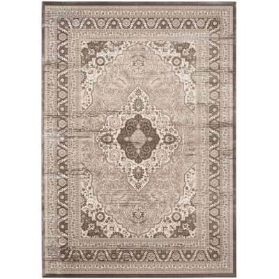 Vishnu Beige/ Light Brown Area Rug Rug Size: Rectangle 8 x 11