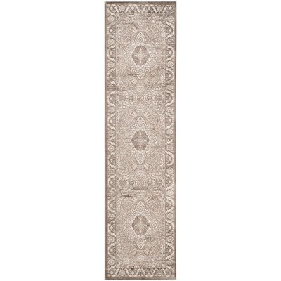 Vishnu Beige/ Light Brown Area Rug Rug Size: Runner 22 x 8